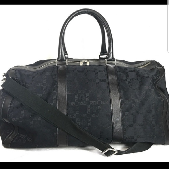 6669a853c6 Authentic Versace duffel weekend bag w logo.